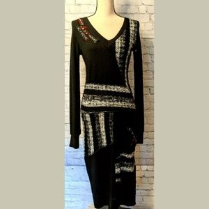 YOUNG THREADS Sweater BOHO Dress Size 6 Stretch